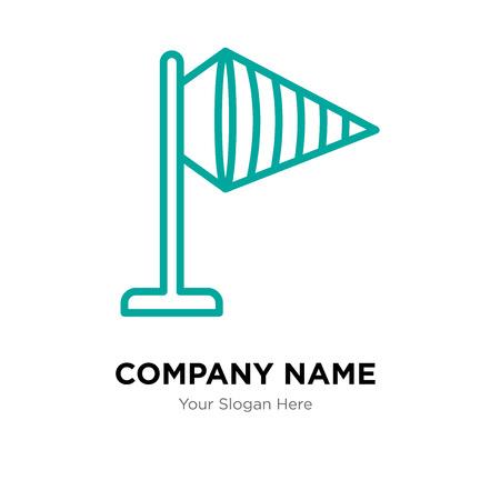 Windy company logo design template, Windy logotype vector icon, business corporative