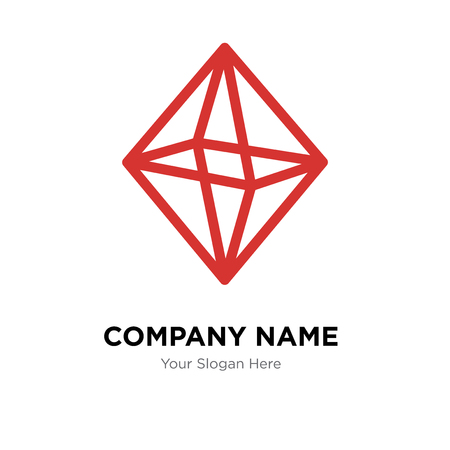 Octahedron company logo design template, Octahedron logotype vector icon, business corporative
