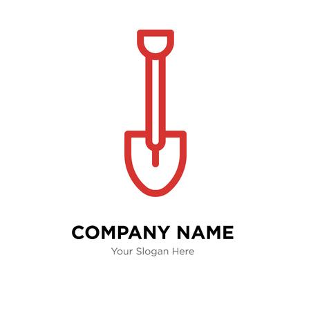 Shovel company logo design template, Shovel logotype vector icon, business corporative