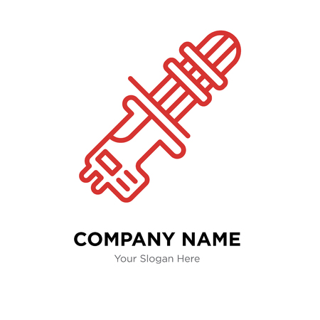 Machine gun company logo design template, Machine gun logotype vector icon, business corporative Illustration
