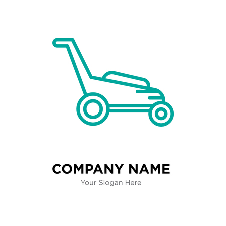 Lawnmower company logo design template, Lawnmower logotype vector icon, business corporative 일러스트