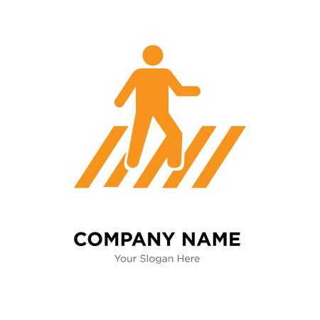 Pedestrian company logo design template, Pedestrian logotype vector icon, business corporative Logo