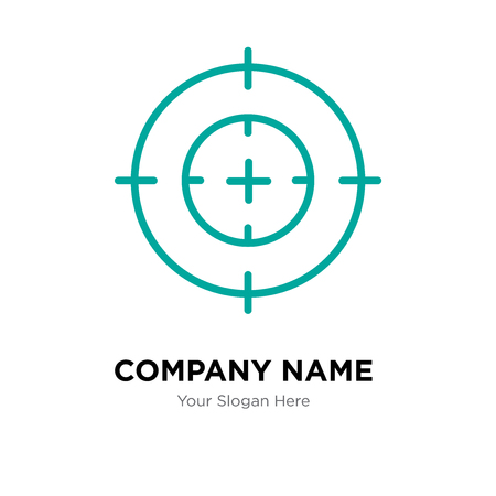 Obiettivo del modello di progettazione del logo della società, icona di vettore del logotipo di obiettivo, corporativo aziendale