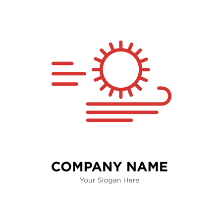 Windy company logo design template, Windy logotype vector icon, business corporative