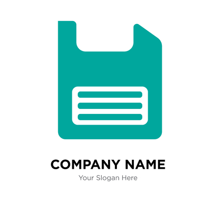 Diskette company logo design template, Diskette logotype vector icon, business corporative