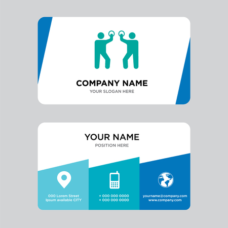 Talking business card design template, Visiting for your company, Modern Creative and Clean identity Card Vector Illustration