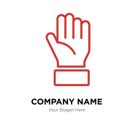 Mantenga la plantilla de diseño del logotipo de la empresa, mantenga el icono de vector de logotipo, corporativo empresarial