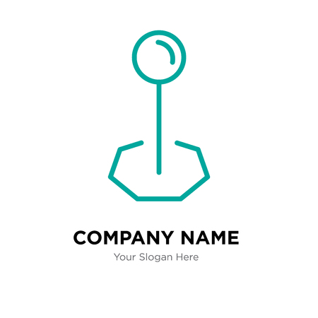 Pinned company logo design template, Pinned logotype vector icon, business corporative Ilustração