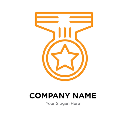 Medal company logo design template, Medal logotype vector icon, business corporative Ilustração