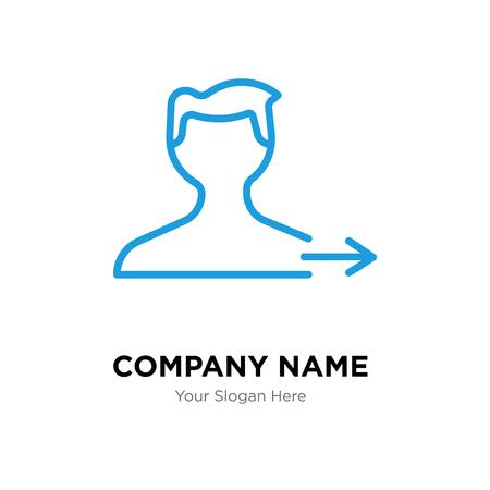 Plantilla de diseño de logotipo de empresa de usuario, icono de vector de logotipo de usuario, empresa corporativa