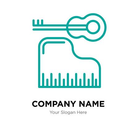 Piano company logo design template, Piano logotype vector icon, business corporative