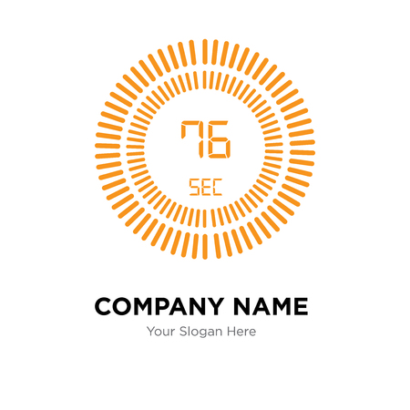 The 76 seconds company logo design template, The 76 seconds logotype vector icon, business corporative Ilustração