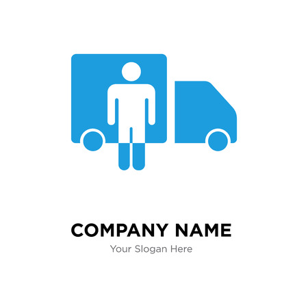 Driver company logo design template, Driver logotype vector icon, business corporative Иллюстрация