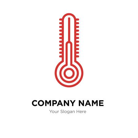 Plantilla de diseño de logotipo de empresa de temperatura, icono de vector de logotipo de temperatura, empresa corporativa
