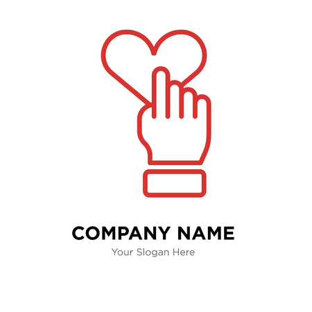 Heart company logo design template, Heart logotype vector icon, business corporative Ilustração
