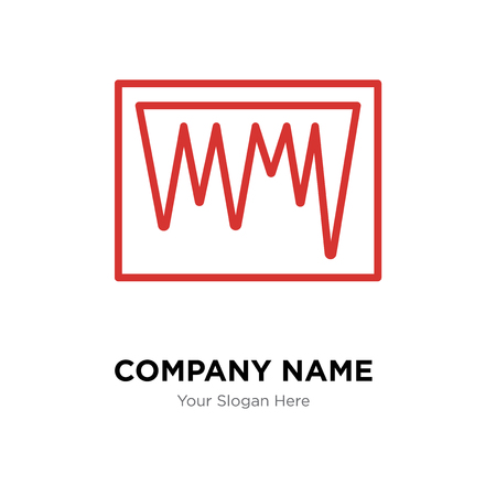 icicle company logo design template icicle logotype vector icon