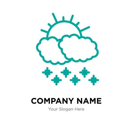 Morning snow company logo design template, Morning snow logotype vector icon, business corporative 向量圖像