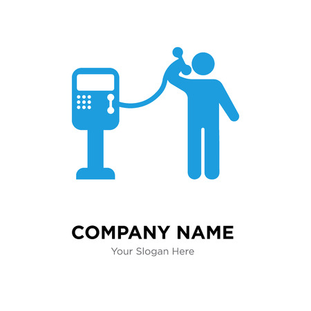 Public phone company logo design template, Public phone logotype vector icon, business corporative