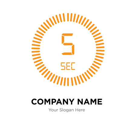 The 5 seconds company logo design template, The 5 seconds logotype vector icon, business corporative