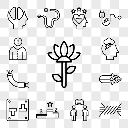 Set Of 13 transparent editable icons such as Garden, Wire, Communication, Podium, Switch, Pliers, Storm, Think, web ui icon pack, transparency set