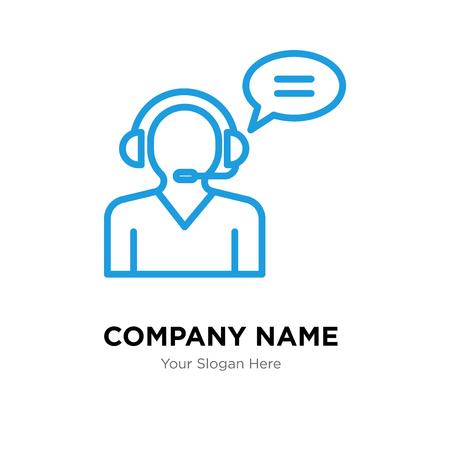 Customer service company logo design template, Customer service logotype vector icon, business corporative