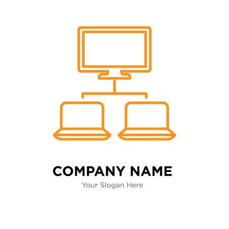 Network company logo design template, Network logotype vector icon, business corporative Logó