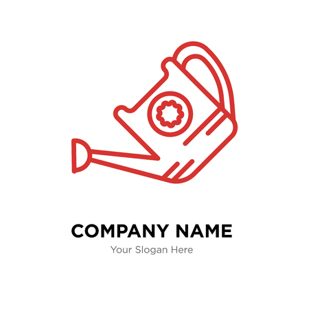 Watering can company logo design template, Watering can logotype vector icon, business corporative Illustration