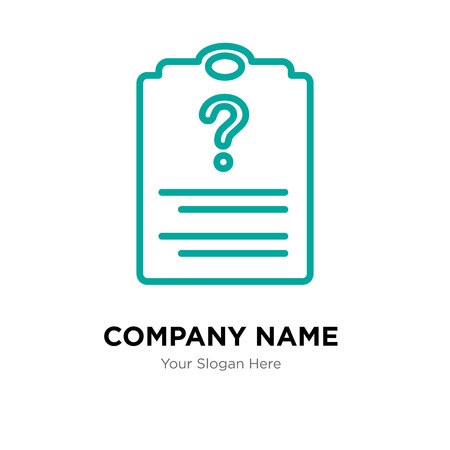 Contacts company logo design template, Contacts logotype vector icon, business corporative Ilustração