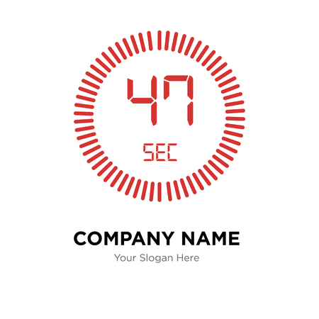 The 47 seconds company logo design template, The 47 seconds logotype vector icon, business corporative Ilustração