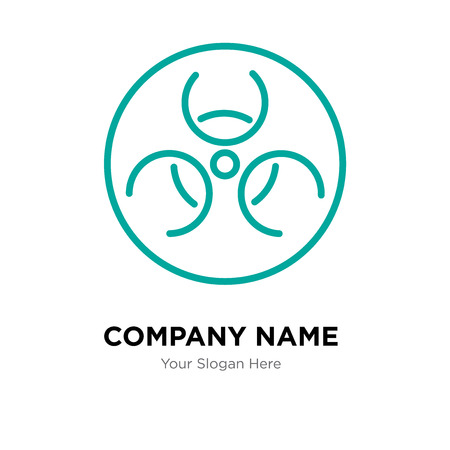 Hazmat company logo design template, Hazmat logotype vector icon, business corporative