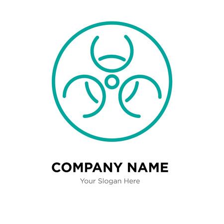 Hazmat company logo design template, Hazmat logotype vector icon, business corporative