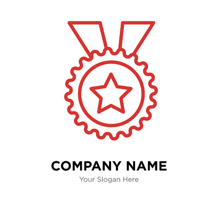 Badge company logo design template, Badge logotype vector icon, business corporative