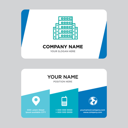 Server business card design template, Visiting for your company, Modern Creative and Clean identity Card Vector Illustration Stock Illustratie