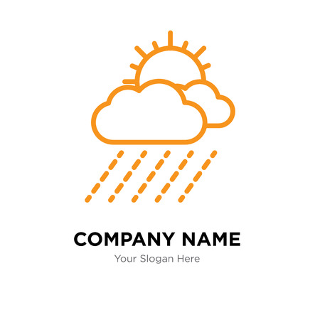 Rain company logo design template, Rain logotype vector icon, business corporative