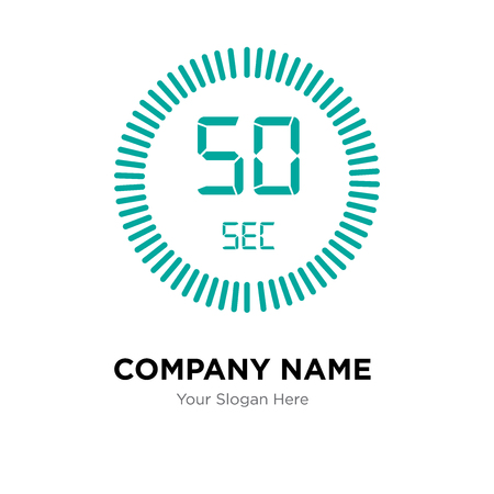 The 50 seconds company logo design template, The 50 seconds logotype vector icon, business corporative