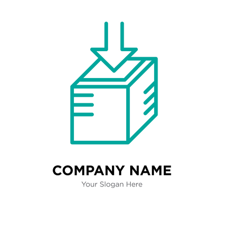 Open box company logo design template, Open box logotype vector icon, business corporative