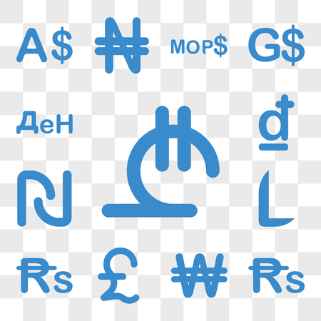 Set Of 13 transparent icons such as Georgia currency, Sri Lanka North Korea Great Britain Mauritius Honduras web ui editable icon pack, transparency