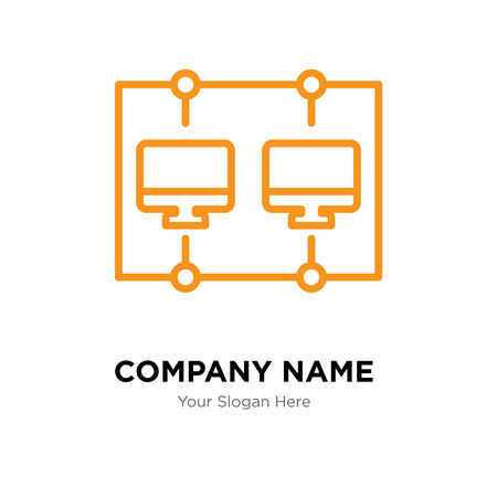 Networking company logo design template, Networking logotype vector icon, business corporative