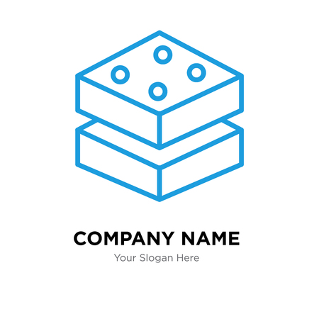 Brick company logo design template, Brick logotype vector icon, business corporative