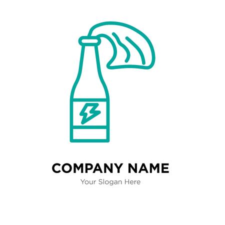 Molotov cocktail company logo design template, Molotov cocktail logotype vector icon, business corporative