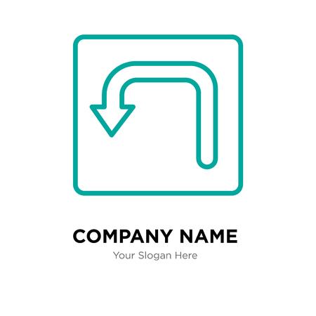 Turn company logo design template, Turn logotype vector icon, business corporative Illustration