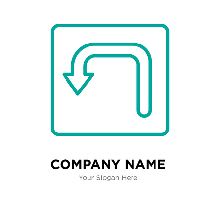 Turn company logo design template, Turn logotype vector icon, business corporative Ilustração