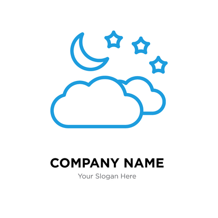Cloud company logo design template, Cloud logotype vector icon, business corporative