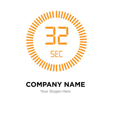 The 32 seconds company logo design template, The 32 seconds logotype vector icon, business corporative