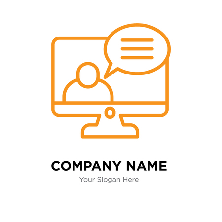 Video call company logo design template, Video call logotype vector icon, business corporative