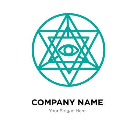 Sri yantra company logo design template, Sri yantra logotype vector icon, business corporative Illustration