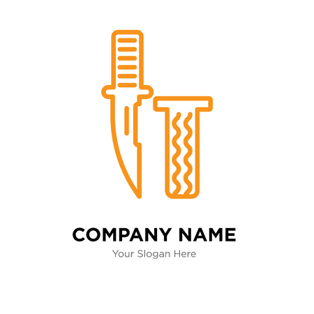 Knife company logo design template, Knife logotype vector icon, business corporative