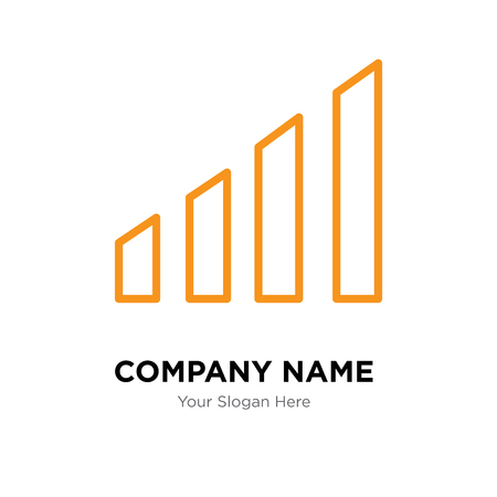 Levels company logo design template, Levels logotype vector icon, business corporative