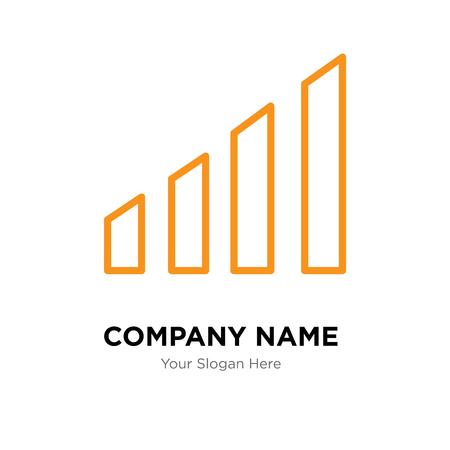 Modèle de conception de logo d'entreprise de niveaux, icône de vecteur de logo de niveaux, entreprise corporative