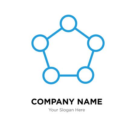 Pentagon company logo design template, Pentagon logotype vector icon, business corporative 向量圖像